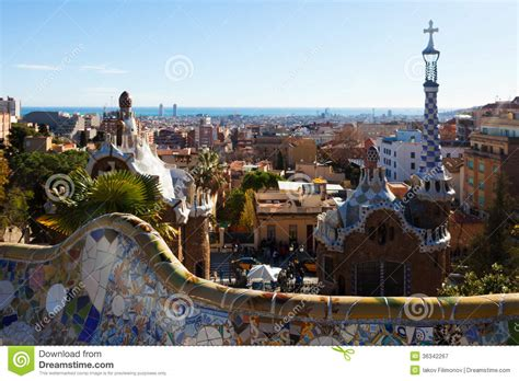 barcelona in winter park guell in winter barcelona stock image image 36342267