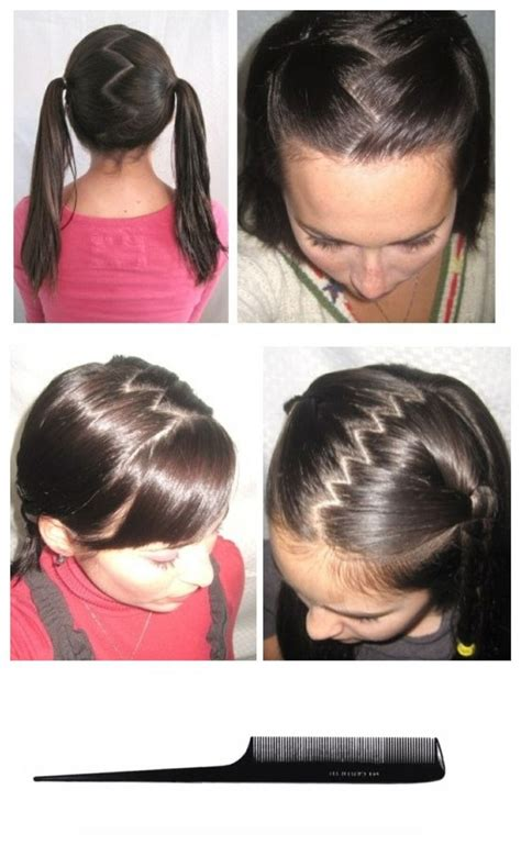 hair pattern zig zag zig zag hair part used 2 struggle w this for yrs when