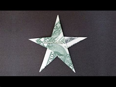 How To Make An Origami Starfish - money origami dollar bill