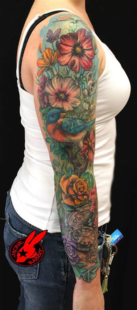 flower garden tattoo designs flower garden sleeve by jackie rabbit by