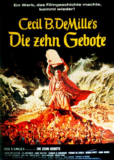Filmplakat Zehn Gebote Die 1956 Plakat 1 Von 3
