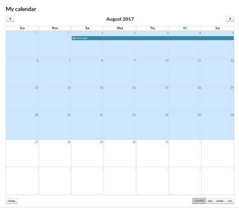css full calendar working correctly semantic ui