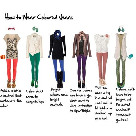 wardrobe tips how to wear coloured jeans for the 40 inside out style