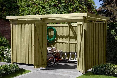 Bauanleitung Unterstand Holz by Ger 228 Tehaus Gartenschuppen Aus Holz Typ 3 Fahrrad