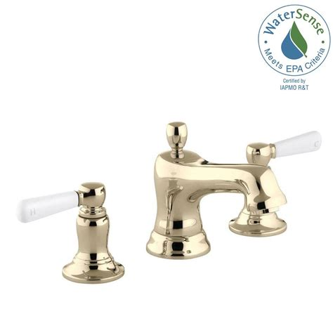 kohler bancroft bathroom sink faucet kohler bancroft 8 in widespread 2 handle low arc water