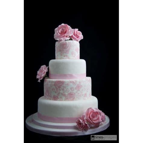 New Four Tier Wedding Cake Four Tier Wedding Cake With Pink Flower Celebration