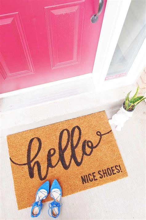 diy    custom doormat   cricut