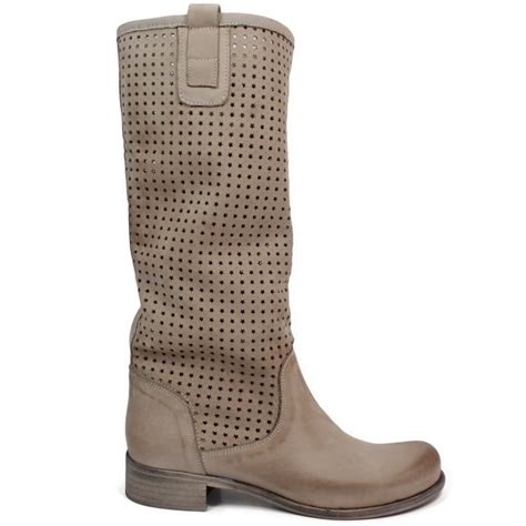 summer boots high perforated summer biker boots leather elefant made in