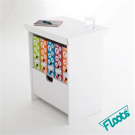 Small White Drawer Unit by Eco Small Drawer Unit Eco Floots Cardboard Furniture