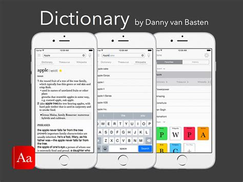dictionary app for ios template sketch freebie