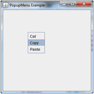 java swing popup menu java jpopupmenu javatpoint