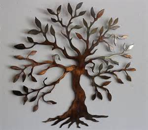 olive tree tree of metal wall