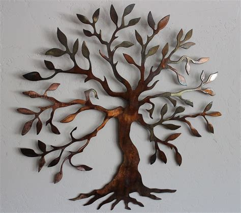 Tin Wall Decor by Olive Tree Tree Of Metal Wall
