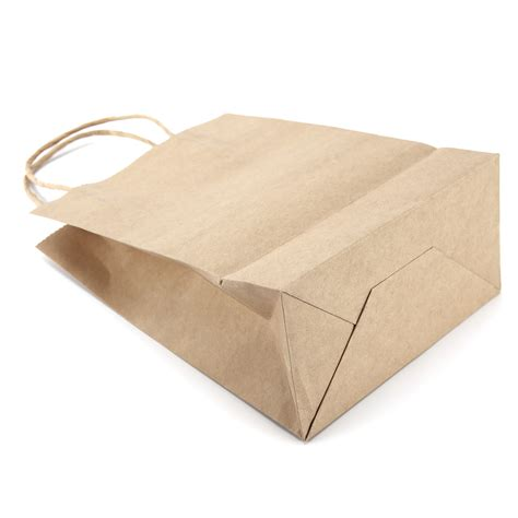 Twisted Craft Paper - brown kraft craft twisted handle paper carrier bags