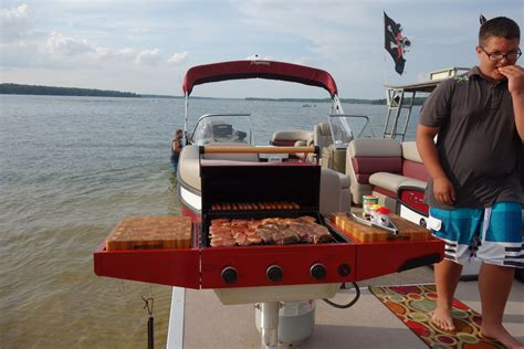 pontoon boat gas grill custom large pontoon boat bbq gas grill front mount with c