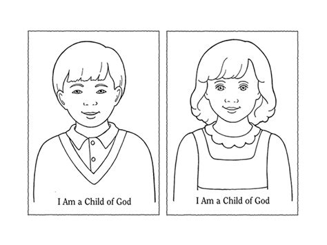 I Am A Child Of God Coloring Page by Nursery Manual Page 11 I Am A Child Of God