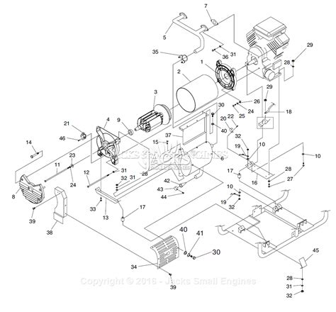 generac parts diagram generac 4583 parts diagram for generator