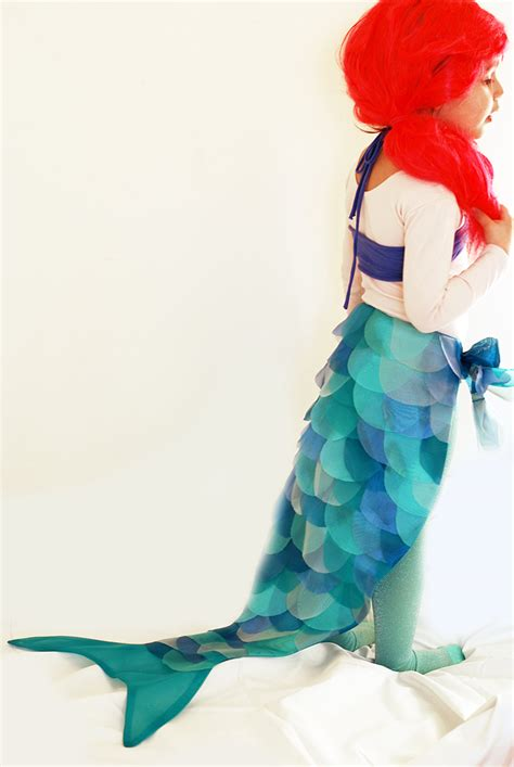 Handmade Mermaid Costume - diy mermaid costume the sewing rabbit