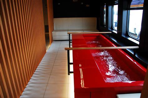 luxury shinkansen train  feature foot baths japan real