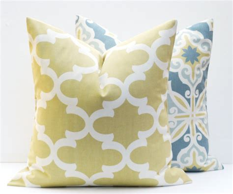 yellow patterned pillows decorative pillow covers gold pillow grey yellow by