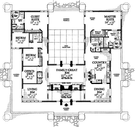 square shaped house plans contemporary style house plans 3278 square foot home 1 story 4 bedroom and 3 bath 0 garage