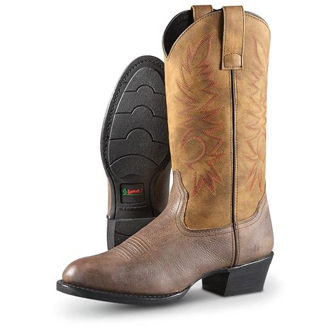 mens brown cowboy boots s laredo 174 western cowboy boots brown 292759
