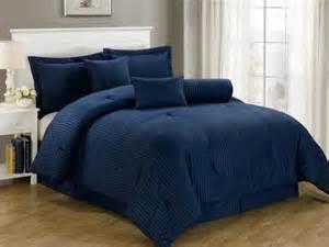 chezmoi collection 7 piece dobby stripe comforter set