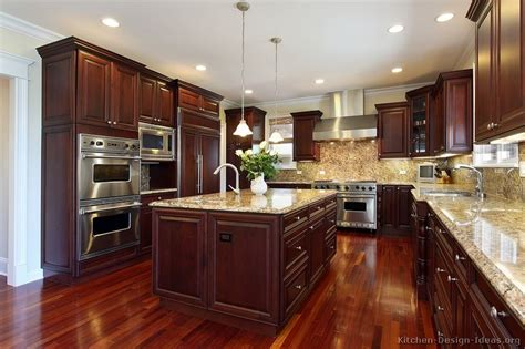 dark cherry wood kitchen cabinets pictures of kitchens traditional dark wood kitchens