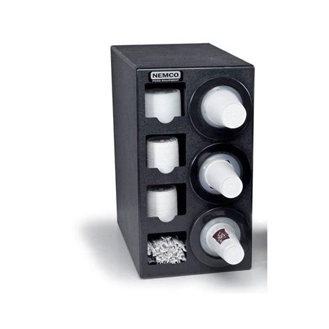 Countertop Cup Dispenser by Nemco 88400 Cdh Countertop Cup Dispenser W 3 2 Lid