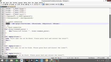 php tutorial how to connect to a database connect html form to mysqli database with php youtube