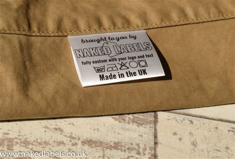 Fabric Labels For Handmade Items Uk - 100 x custom clothing labels silky satin for textile with