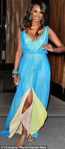 Baby blue and yellow silk evening dress and matchmaker patti stanger
