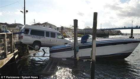 bumpers landing boat club hit and run driver escapes furious victim by driving off a