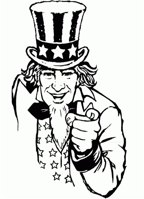 coloring page of uncle sam uncle sam coloring page coloring home