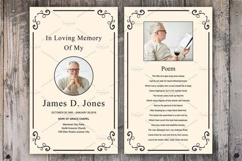 funeral service cards templates 11 funeral memorial card designs templates psd ai