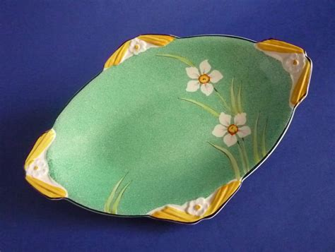 burleigh pattern numbers lovely burleigh ware art deco narcissus finned dish c1935