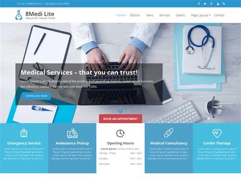 theme wordpress free health 19 free medical wordpress themes 2018 themelibs