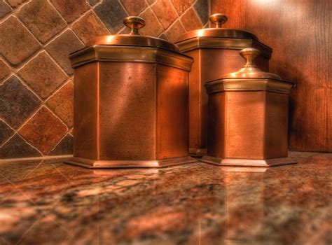 Large Kitchen Canisters copper canisters by mike hendren