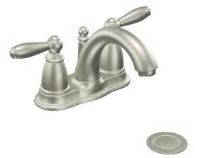 brantford kitchen faucet moen 6610bn brantford two handle low arc bathroom faucet with drain assembly brushed nickel