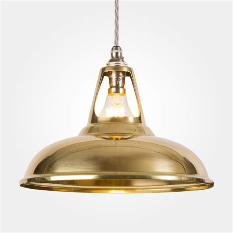 Brass Pendant Lighting Coolicon Industrial Brass Pendant Light