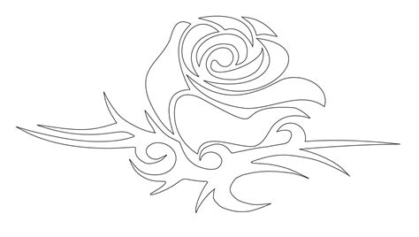 rose tattoo stencil free tattoos book 2510 free printable stencils