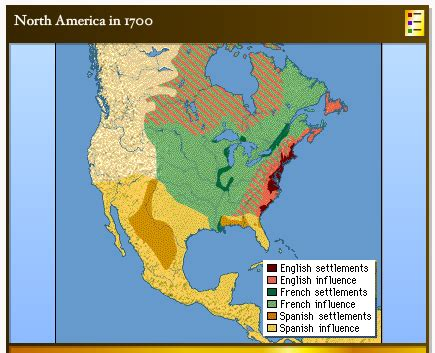 map of the us during the 1700s the colonists what they created
