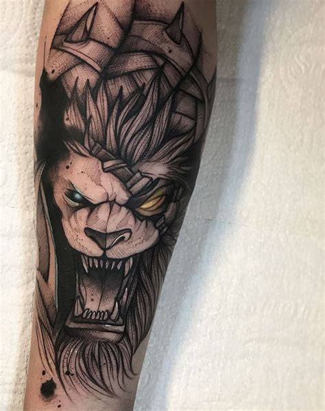 league of legends tattoo rengar by gustavo takazone instagram gtakazone