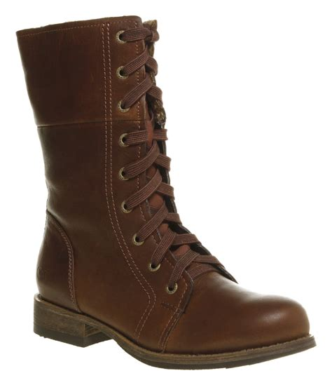 s caterpillar narcissa lace up brown leather boots