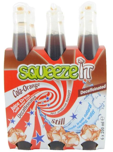 Squeeze It squeeze it orange cola juice drink 6 x 200ml approved food