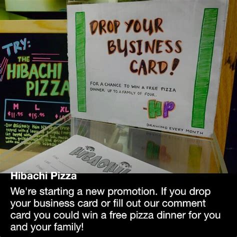 drop your business card for a chance to win template drop in a business card for a free dinner yes yelp