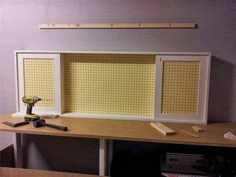 Pegboard Cabinet Doors Build An Organized Pegboard Tool Cabinet And Simple Workbench Remodelaholic Bloglovin