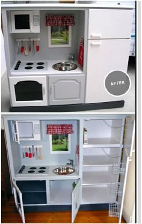 play kitchen reinvented from old furniture for my 22 best images about diy children s furniture on pinterest
