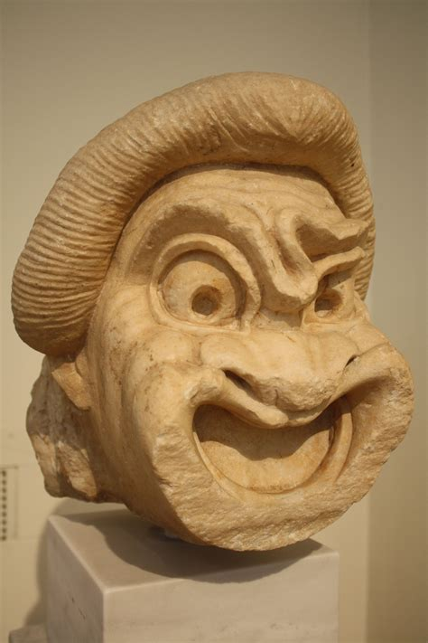1440032971 the tragedy of man dramatic greek marble comedy mask illustration ancient history