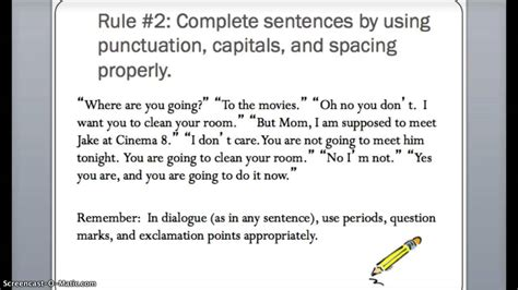Punctuation Essay by Writing And Punctuation Dialogue